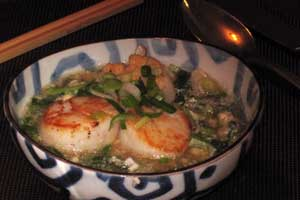 Scallop-corn-soup