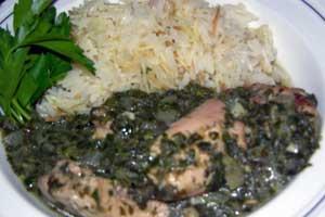 Molokhia-cooked
